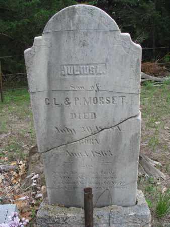 MORSETT, JULIUS L. (ORIGINAL STONE) - Antelope County, Nebraska   JULIUS L. (ORIGINAL STONE) MORSETT - Nebraska Gravestone Photos