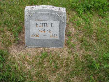 GRAHAM NOLZE, EDITH E - Antelope County, Nebraska   EDITH E GRAHAM NOLZE - Nebraska Gravestone Photos