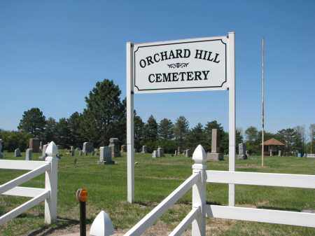 *ORCHARD HILL, ENTRANCE - Antelope County, Nebraska | ENTRANCE *ORCHARD HILL - Nebraska Gravestone Photos