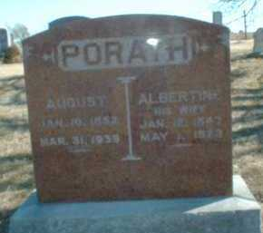 PORATH, ALBERTINE - Antelope County, Nebraska | ALBERTINE PORATH - Nebraska Gravestone Photos