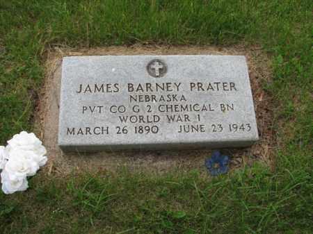 PRATER, JAMES BARNEY - Antelope County, Nebraska | JAMES BARNEY PRATER - Nebraska Gravestone Photos