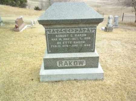 RAKOW, AUGUST - Antelope County, Nebraska | AUGUST RAKOW - Nebraska Gravestone Photos