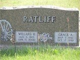IBURG RATLIFF, GRACE A - Antelope County, Nebraska   GRACE A IBURG RATLIFF - Nebraska Gravestone Photos