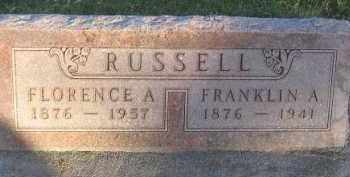 RUSSELL, FLORENCE A - Antelope County, Nebraska | FLORENCE A RUSSELL - Nebraska Gravestone Photos