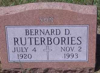 RUTERBORIES, BERNARD D - Antelope County, Nebraska | BERNARD D RUTERBORIES - Nebraska Gravestone Photos