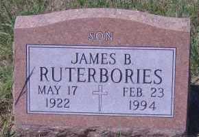 RUTERBORIES, JAMES B - Antelope County, Nebraska | JAMES B RUTERBORIES - Nebraska Gravestone Photos