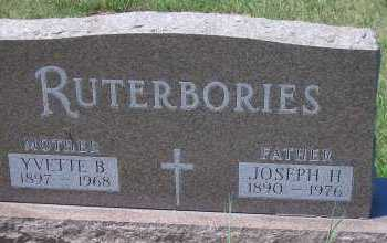 RUTERBORIES, YVETTE BILLIE - Antelope County, Nebraska | YVETTE BILLIE RUTERBORIES - Nebraska Gravestone Photos