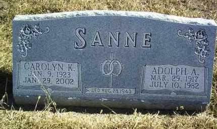 SANNE, ADOLPH A - Antelope County, Nebraska | ADOLPH A SANNE - Nebraska Gravestone Photos
