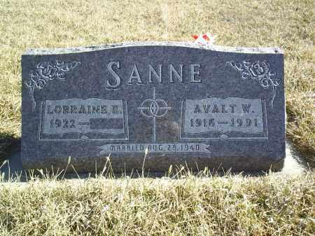 SANNE, AVALT - Antelope County, Nebraska | AVALT SANNE - Nebraska Gravestone Photos