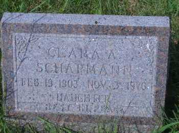 SCHAPMANN, CLARA A - Antelope County, Nebraska   CLARA A SCHAPMANN - Nebraska Gravestone Photos