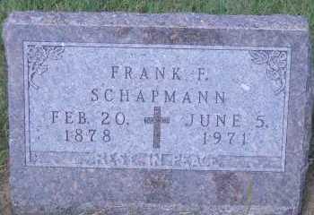 SCHAPMANN, FRANK F - Antelope County, Nebraska | FRANK F SCHAPMANN - Nebraska Gravestone Photos
