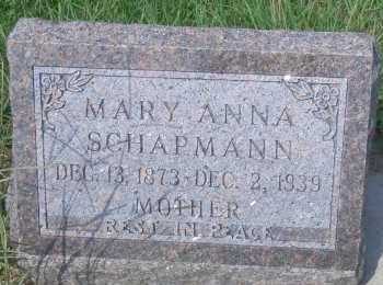 WIEWEL SCHAPMANN, MARY ANNA - Antelope County, Nebraska   MARY ANNA WIEWEL SCHAPMANN - Nebraska Gravestone Photos