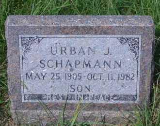 SCHAPMANN, URBAN J - Antelope County, Nebraska | URBAN J SCHAPMANN - Nebraska Gravestone Photos