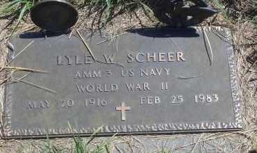 SCHEER, LYLE W - Antelope County, Nebraska   LYLE W SCHEER - Nebraska Gravestone Photos