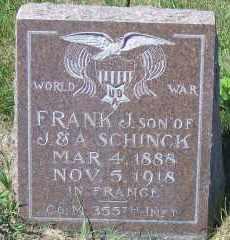 SCHINCK, FRANK J - Antelope County, Nebraska   FRANK J SCHINCK - Nebraska Gravestone Photos