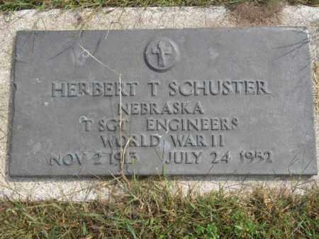 SCHUSTER, HERBERT T - Antelope County, Nebraska   HERBERT T SCHUSTER - Nebraska Gravestone Photos