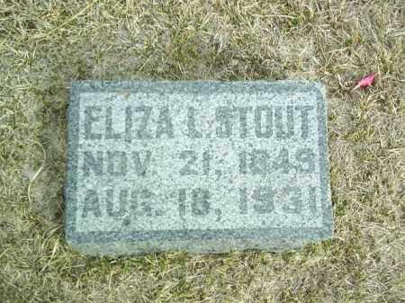 STOUT, ELIZA - Antelope County, Nebraska   ELIZA STOUT - Nebraska Gravestone Photos