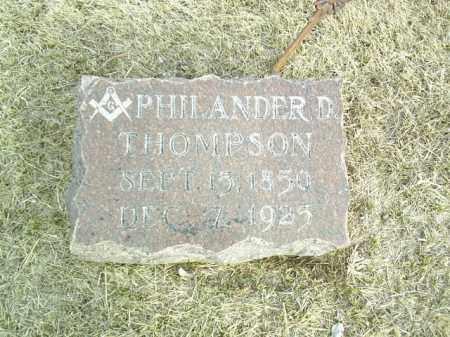 THOMPSON, PHILANDER - Antelope County, Nebraska | PHILANDER THOMPSON - Nebraska Gravestone Photos