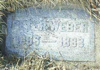WEBER, PETER - Antelope County, Nebraska | PETER WEBER - Nebraska Gravestone Photos