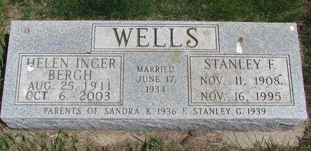 BERGH WELLS, HELEN INGER - Antelope County, Nebraska   HELEN INGER BERGH WELLS - Nebraska Gravestone Photos