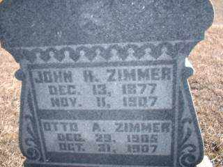 ZIMMER, OTTO - Antelope County, Nebraska | OTTO ZIMMER - Nebraska Gravestone Photos