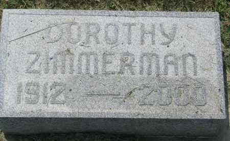 ZIMMERMAN, DOROTHY - Antelope County, Nebraska | DOROTHY ZIMMERMAN - Nebraska Gravestone Photos
