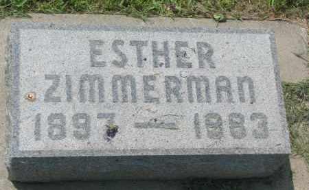 ZIMMERMAN, ESTHER - Antelope County, Nebraska   ESTHER ZIMMERMAN - Nebraska Gravestone Photos