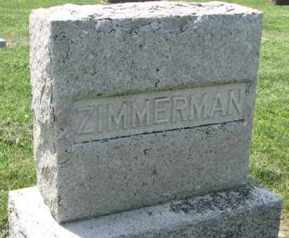 ZIMMERMAN, FAMILY STONE - Antelope County, Nebraska | FAMILY STONE ZIMMERMAN - Nebraska Gravestone Photos