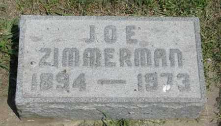 ZIMMERMAN, JOE - Antelope County, Nebraska   JOE ZIMMERMAN - Nebraska Gravestone Photos