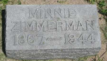 ZIMMERMAN, MINNIE - Antelope County, Nebraska | MINNIE ZIMMERMAN - Nebraska Gravestone Photos