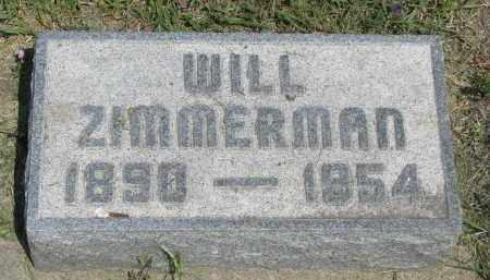 ZIMMERMAN, WILL - Antelope County, Nebraska | WILL ZIMMERMAN - Nebraska Gravestone Photos