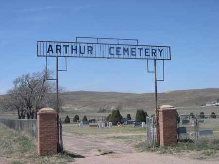 ARTHUR CEMETERY, ENTRANCE TO - Arthur County, Nebraska   ENTRANCE TO ARTHUR CEMETERY - Nebraska Gravestone Photos