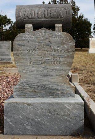 ADCOCK, MARY E. - Banner County, Nebraska | MARY E. ADCOCK - Nebraska Gravestone Photos