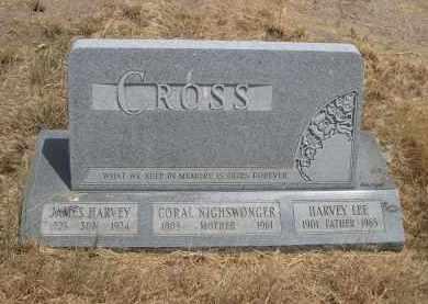 CROSS, CORAL - Banner County, Nebraska | CORAL CROSS - Nebraska Gravestone Photos