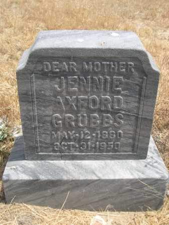 GRUBBS, JENNIE - Banner County, Nebraska | JENNIE GRUBBS - Nebraska Gravestone Photos
