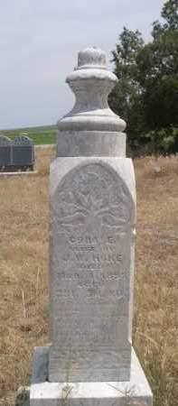 HOKE, CORA E. - Banner County, Nebraska | CORA E. HOKE - Nebraska Gravestone Photos