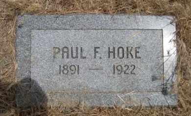 HOKE, PAUL F. - Banner County, Nebraska | PAUL F. HOKE - Nebraska Gravestone Photos