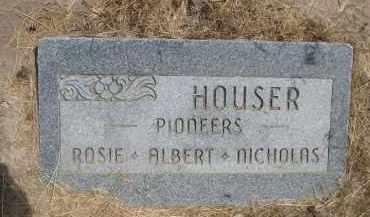 HOUSER, ALBERT - Banner County, Nebraska   ALBERT HOUSER - Nebraska Gravestone Photos
