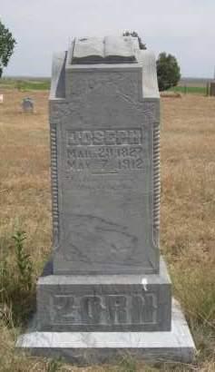 ZORN, JOSEPH - Banner County, Nebraska | JOSEPH ZORN - Nebraska Gravestone Photos