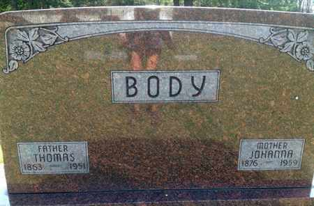 BODY, JOHANNA - Blaine County, Nebraska   JOHANNA BODY - Nebraska Gravestone Photos
