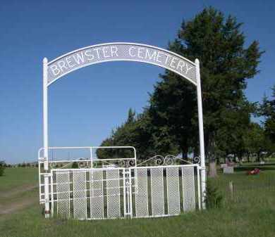 *BREWSTER CEMETERY, ENTRANCE SIGN - Blaine County, Nebraska | ENTRANCE SIGN *BREWSTER CEMETERY - Nebraska Gravestone Photos