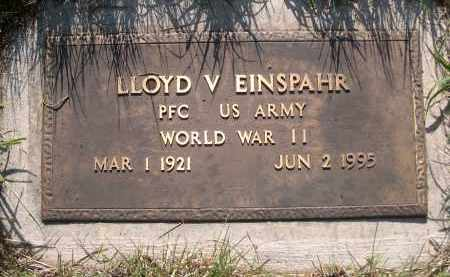 EINSPAHR, LLOYD V. - Blaine County, Nebraska | LLOYD V. EINSPAHR - Nebraska Gravestone Photos