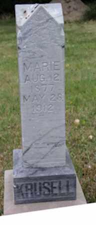KRUSELL, MARIE - Blaine County, Nebraska | MARIE KRUSELL - Nebraska Gravestone Photos