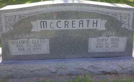 MCCREATH, WILLIAM GLENN - Blaine County, Nebraska | WILLIAM GLENN MCCREATH - Nebraska Gravestone Photos