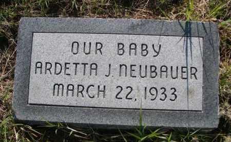 NEUBAUER, ARDETTA J. - Blaine County, Nebraska | ARDETTA J. NEUBAUER - Nebraska Gravestone Photos