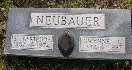 NEUBAUER, S. GERTRUDE - Blaine County, Nebraska | S. GERTRUDE NEUBAUER - Nebraska Gravestone Photos