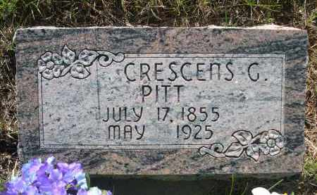 PITT, CRESCENS G. - Blaine County, Nebraska | CRESCENS G. PITT - Nebraska Gravestone Photos