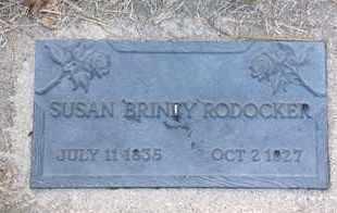 RODOCKER, SUSAN BRINEY - Blaine County, Nebraska | SUSAN BRINEY RODOCKER - Nebraska Gravestone Photos
