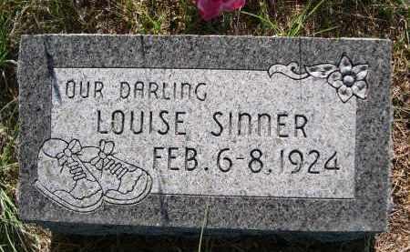 SINNER, LOUISE - Blaine County, Nebraska   LOUISE SINNER - Nebraska Gravestone Photos