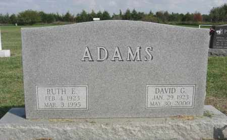 ADAMS, RUTH E. - Boone County, Nebraska | RUTH E. ADAMS - Nebraska Gravestone Photos